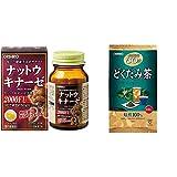 【セット買い】オリヒロ ナットウキナーゼ 60粒 & 徳用どくだみ茶 60包