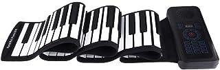 Piano Enrollable 88 Teclas Portátil Teclado Electrónico Piano Mano Batería Incorporada de 1100 mAh Li-on (Enrollar Piano + Pedal + Cable USB + Cable de Alimentación de CC + Bolsa de Almacenamiento)