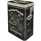Nostalgic-Art Retro Kaffeedose Goodyear Motorcycle – Idea de Regalo para los Amantes de los Coches y Las Motos, Metal, Diseño Vintage, 1,3 L