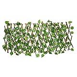 Valla de árbol Artificial Extensible de Madera de ratán Verde Valla Decorativa de jardín Artificial Valla de árbol de protección UV decoración de jardín