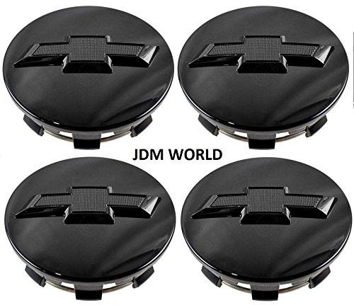 4pcs. Chevy Suburban Tahoe Center Caps 23480948rueda centro tapa negro brillante pajarita con logotipo para GM Truck SUV nuevo