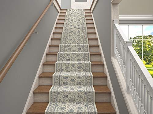 LuxuryCollection 25' Stair Runner Teppiche Kashan Kollektion Treppenteppichläufer Fast 1 Million Punkte pro sq.Meter (Elfenbein)