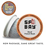 SF Bay Coffee DECAF French Roast 80 Ct Natural Water Processed Dark Roast Compostable Coffee Pods, K Cup Compatible including Keurig 2.0 (Packaging May Vary)