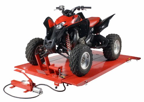 Dragway Tools 1500 LB Air Hydraulic Lift Hoist Jack Motorcycle Lawn Mower ATV Tractor XUV