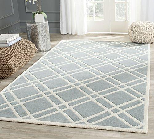 Safavieh Teppich mit Rautenmuster Blau / Elfenbein 152 X 243 cm
