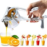 KolorFish Heavy Duty Aluminium Metal Manual Fruit Juicer Squeezer Premium Quality Lemon Orange Juicer, Simple Fruit Press Squeezer (Silver)