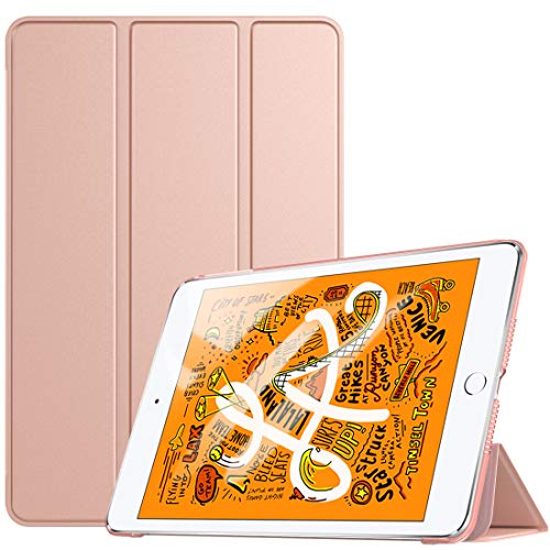 TiMOVO Case for New iPad mini 5 2019 (7.9', 5th Generation), Slim Translucent Frosted Back Protector Smart Case with Auto Wake/Sleep, Smart Cover for iPad mini 7.9' 2019, Rose Gold