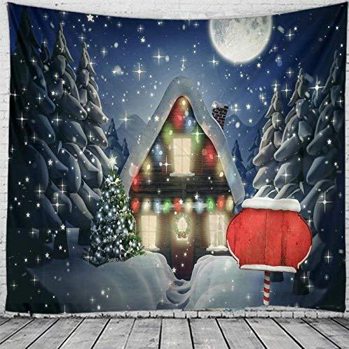 AYCYNI Tapicería India Colgando en la Pared, Hojas de Navidad Boho Yoga Techo Alfombra de Techo -L / 148cmx200cm,XL / 175x230cm.