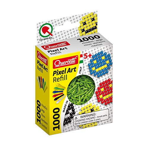Quercetti Pixel Art Refill - 1000 Pegs - Green