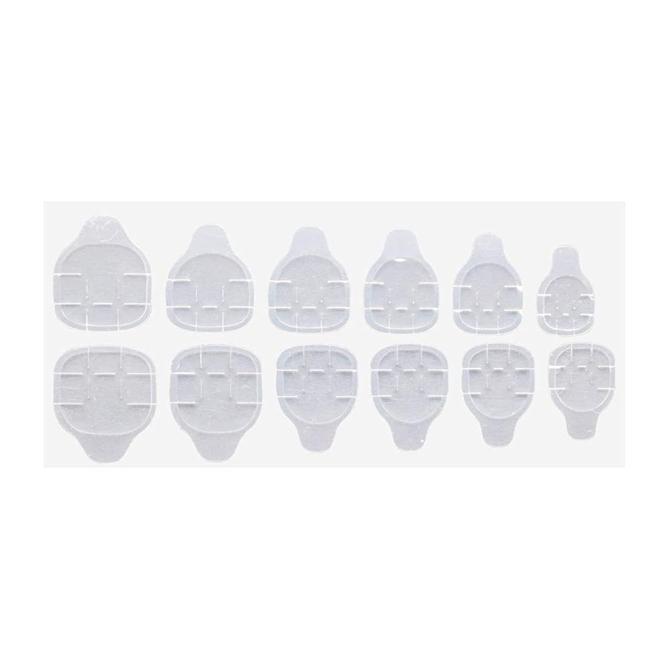 ピンク幽霊救いグミ状両面テープ 付け爪 ネイルチップ 練習用 ネイルツール ジェルネイル ネイルアート