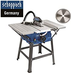 Scheppach HS 100 S Edition spéciale Scie circulaire - Scie circulaire avec lame de scie fine (2000 W, lame de scie Ø 250 x Ø 30 mm, max. hauteur de coupe 85 mm, taille de la table 940×642 mm)