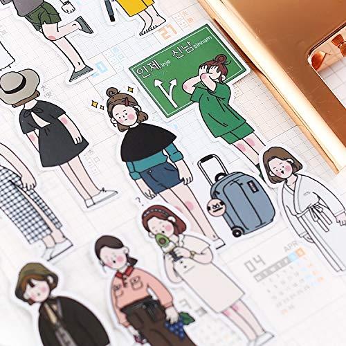 Stickers 40 Stks Retro Yoga Meisje Voor Bagage Laptop Decal Skateboard Stickers Moto Fiets Auto Gitaar Koelkast Sticker Scrapbooking