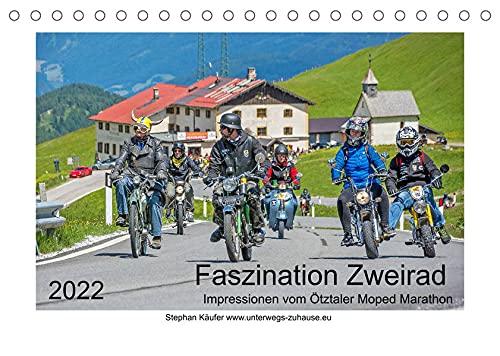 Faszination Zweirad - Impressionen vom Ötztaler Moped Marathon (Tischkalender 2022 DIN A5 quer): Tollkühne Piloten und tapfere Mopeds (Monatskalender, 14 Seiten )