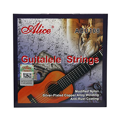 Alice ACU108 Guitalele String Set(.026-.041)-Nylon Strings Set for 6 Strings Guitalele