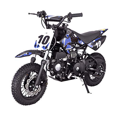 X-PRO 110cc Dirt Bike Pit Bike Youth Dirt Pit Bike 110 Dirt Pitbike,Blue