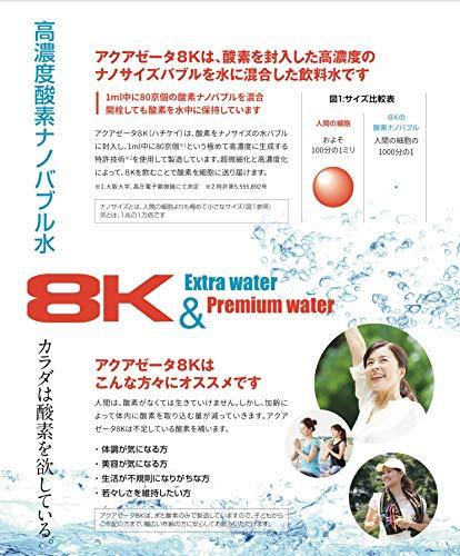 『8K PREMIUM (ハチケイ プレミアム)超高濃度酸素ナノバブル水 24本入リ』の3枚目の画像