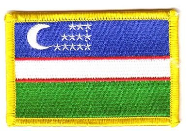 Flaggen Aufnäher Patch Usbekistan Fahne Flagge NEU