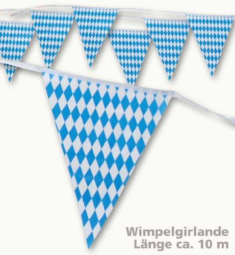 Oktoberfest Wimpel Girlande Bayern 10m
