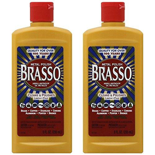 Brasso Metal Polish, 8 oz Bottle for Brass, Copper, Stainless, Chrome, Aluminum, Pewter & Bronze, 8...