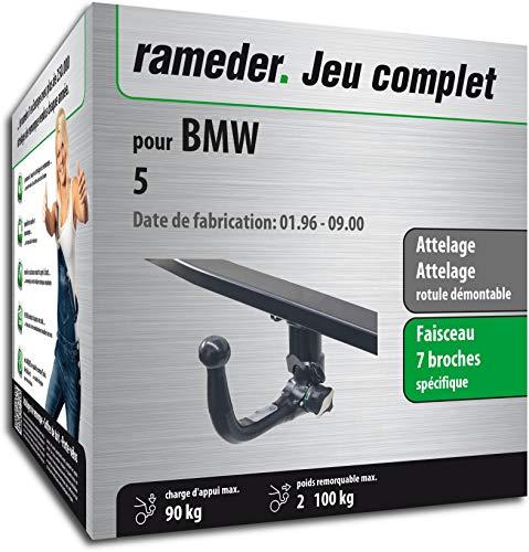 Rameder Pack, attelage rotule démontable + Faisceau 7 Broches Compatible avec BMW 5 (144064-01449-2-FR)