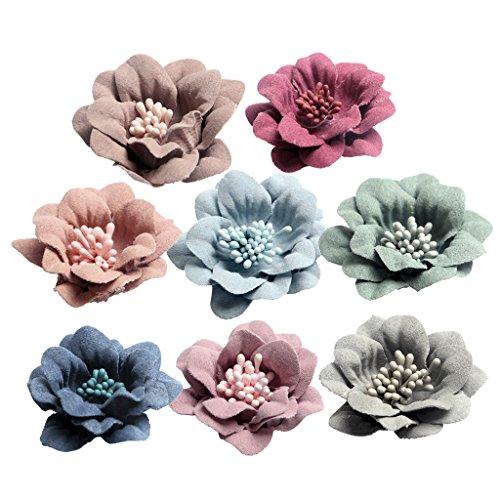 MagiDeal 10er Set Blumen-Köpfe Kunstblumen Blüten Kamelie Künstliche Blumen Hausdeko Hochzeit Deko - Multicolor