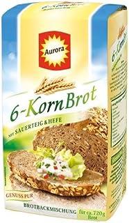 Aurora 6-Korn Brot Brotbackmischung,1er Pack 1x 500 g