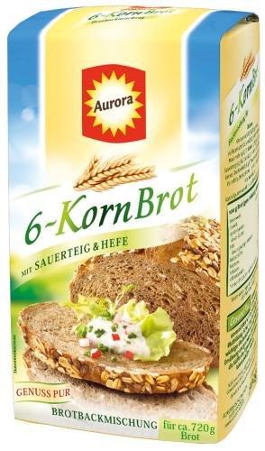 Aurora 6-Korn-Brot Backmischung 6x500g