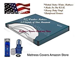 California King Waveless waterbed mattress only has about 3-4 seconds of slow movement Contour Mid Body Support which will let you sink into the mattress more level. Heavy duty vinyl with reinforced corners for years of service Life Time prorated war...