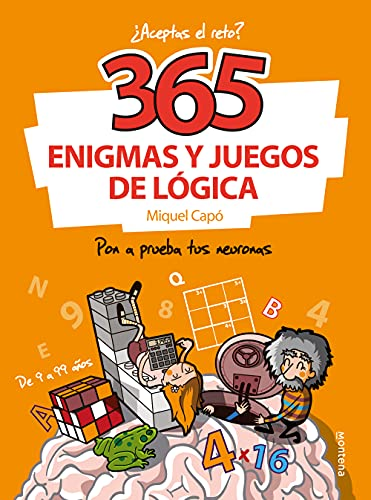 365 enigmas y juegos de lógica: Para niños y niñas. Acertijos divertidos y Retos de ingenio para aprender en Familia. Actividades infantiles para cada día del año (No ficción ilustrados)