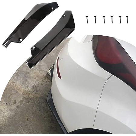 Hellogirl 2 Stück Auto Heckstoßstange Diffusor Universal Auto Stoßstange Seitenschutz Splitter Deckel Autozubehör Auto
