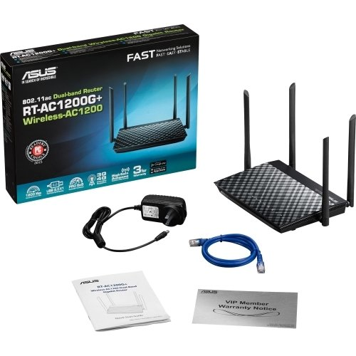 Asus Rt-ac1200g+ Ieee 802.11ac Ethernet Wireless Router - 2.40 Ghz Ism Band - 5 Ghz Unii Band(4 X E
