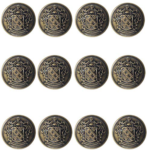 12 Piece Metal Blazer Button Set...