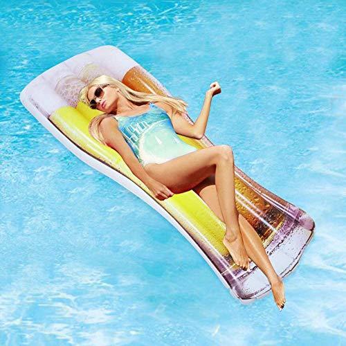 Empty Lounger Addensare Creativo for Adulti Gonfiabile Grande Acqua Boccale di Birra Galleggiante Row Floating Bed Piscina Float Pool Float