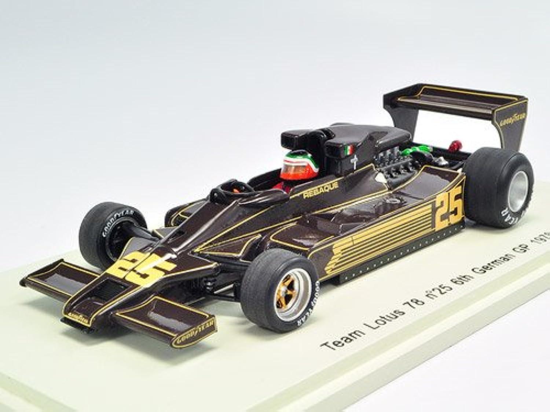 mejor marca SPARK 1 43 Lotus 78 No25 6th German GP GP GP 1978 H.Rebaque (japan import)  respuestas rápidas