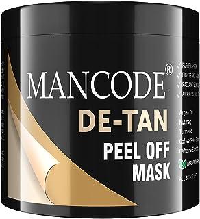 Mancode De-Tan Peel Off -100gram | Prevents Tanned Skin | Lightens - Brightens Skin Texture | Blackheads - Whiteheads Remo...