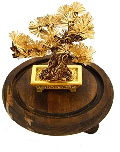 Statues Bodhi Tree Bonsai Feng Shui Decor Lucky Wealth Ornament Bodhi Leaf Desktop Ornaments Gifts Home Office Decoration