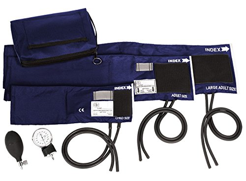 Prestige Medical 3-in-1 Aneroid Sphygmomanometer Set with Carry Case, Navy