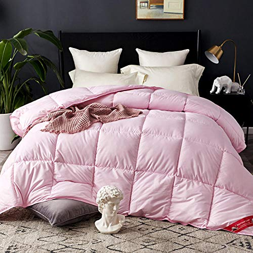 Hahaemall Winter King Size Duvet 100% Cotton Duvet/Quilt Duvet/Soft Luxury Anti-Allergy Breathable/Winter Duvet Quilt-pink_200x230cm-3kg