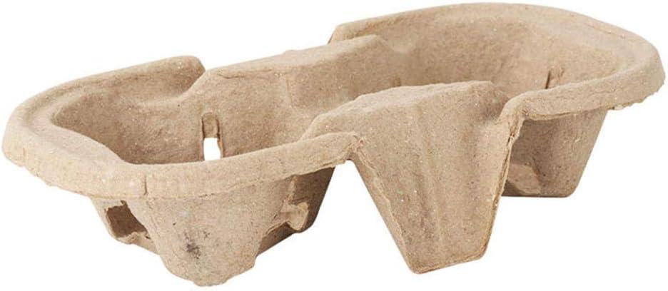 Bandejas De Transporte De Vasos Desechables applemi Portavasos Para Llevar Portavasos De Cart/óN T/é Caf/é 100 Piezas 100 Piezas-Portavasos