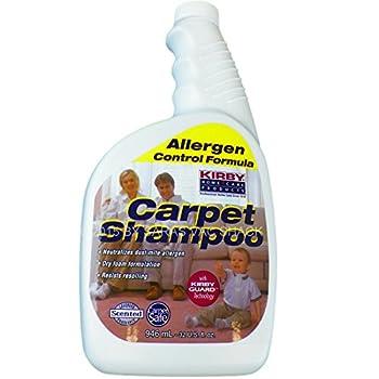 Kirby 252702 Allergen Dry Foam Scented Carpet Shampoo 32 oz Quart