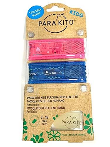 Parakito Kids Pulsera Repelente Mosquitos 2X1 + Pastillas 2X15 DIAS