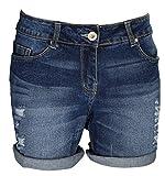 AFS Ladies Boyfriend Stretchy Denim Shorts Distressed Skinny