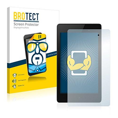 BROTECT Schutzfolie kompatibel mit Google Nexus 7 (2013) (2 Stück) klare Bildschirmschutz-Folie