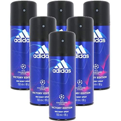 6* Adidas Deospray Deo Bodyspray 150ml Champions League 6*150ml