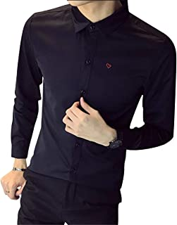 FRPE Men Stylist Work Long Sleeve Vogue Formal Slim Fit Button Down Blouse Shirts Tops