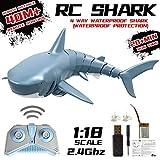 suncana 2.4G RC Boot Fernbedienung Hai Spielzeug ferngesteuertes Boot Simulation für...