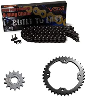Volar O-Ring Chain and Sprocket Kit - Black for 2007-2019 Yamaha YFM700R Raptor 700 Special