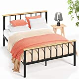 Zinus Brianne Metal and Wood Platform Bed, Full
