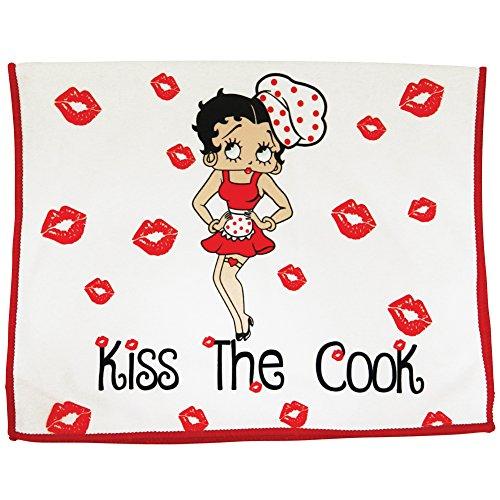 "Midsouth Products Betty Boop - Toalla de cocina, diseño con texto ""Kiss the Cooper"""