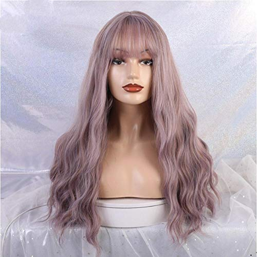 comprar pelucas largas moradas en internet